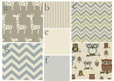 Custom 3 piece Baby Bedding Set--Crib skirt, bumper pads, and sheet (Neutral Baby Bedding). $350.00, via Etsy.