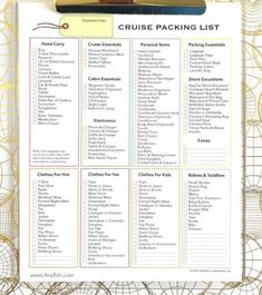 Wondering what to pack for a cruise? A cruise packing checklist will make your travel planning effortless. Before you step on board a cruise ship, there are some details that you need to take care of. First you need to determine your cruise itinerary. Cruise Checklist, Packing List For Cruise, Cruise Travel, Travel Packing, Cruise Vacation, Travel Tips, Packing Lists, Travel Checklist, Vacation Deals
