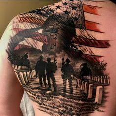 A truly to those who have given the ultimate sacrifice .You can find Military tattoos and more on our website. Army Tattoos, Military Tattoos, Badass Tattoos, Body Art Tattoos, Warrior Tattoos, 3d Tattoos, Tatoos, Tattoo Ink, Firefighter Tattoos