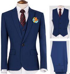 blue wedding suit with vest - Google Search