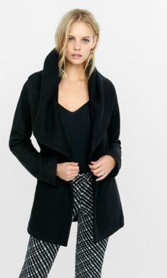 921ab79dad wool blend exaggerated collar coat from EXPRESS Outerwear Women