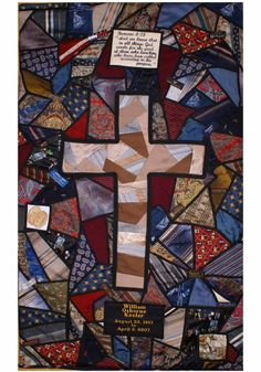 Memorial wall quilt made using men's ties in a ... | Quilts & Things