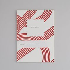 Small Red Lines Ideas & Plans Notebook - Life is a Peach Life is a Peach – A beautifully designed notebook for all your ideas and plans. The Red Lines Id Stationery Design, Brochure Design, Notebook Cover Design, Booklet Cover Design, Notebook Covers, Bookbinding Tutorial, Design Typography, Cool Notebooks, Design Research