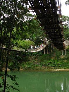 Sipatan Hanging Bridges - Sipatan River, Sevilla, Bohol, Philippines