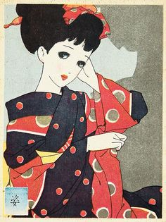 looking at someone by junichi nakahara, circa 1940s (www.internetweekly.org)