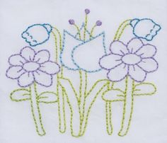 flowers embroidery pattern packet by KimberlyOuimet on Etsy                                                                                                                                                                                 Mais