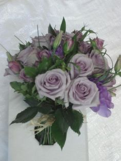 Lilac country wedding bouquet
