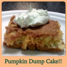 Weight Watchers Friendly Recipe!! PUMPKIN Dump Cake! Comforting & Delicious!!