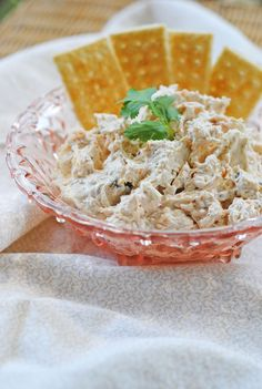 Spicy Chicken Ranch Dip....2 8 oz. packages cream cheese, softened to room temperature  1 large can of chicken  1 package (2 Tbs.) of ranch dressing mix  1/4 cup salsa ... would be good on a tortilla wrap too!