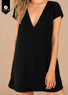 Swans Style is the top online fashion store for women. Shop sexy club dresses, jeans, shoes, bodysuits, skirts and more. Cute Dresses, Casual Dresses, Short Dresses, Casual Outfits, Summer Dresses, Dress Outfits, Fashion Dresses, Simple Black Dress, Mode Inspiration