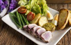 Receita Dedo de Moça: Salada niçoise com atum fresco
