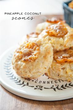 Pineapple Coconut Scones from WhipperBerry // DAIRY FREE