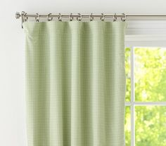 Gingham Panel with Blackout Liner | Pottery Barn Kids- love the gingham for the peter rabbit nursery
