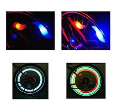 Bike Spoke LED Flashing Neon Safety Lights: Fueled by an efficient LED,long life replaceable batteries. It is suitable for almost all childrens' and adults' bike,them can let your child's bike look clazzing. Suitable for all kind of the 2mm spokes bikes,you can press it on the spokes of you wheel,until it steys securel