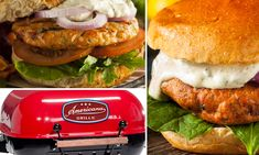Grills, Salmon Burgers, Charcoal, American, Classic, Ethnic Recipes, Food, Salmon Patties, Meal