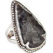 Jasper Pave Arrowhead Ring