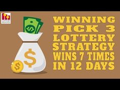 Winning Pick 3 Lottery Strategy Wins 7 Times In 12 Days Winning Lottery Numbers, Lottery Winner, Winning The Lottery, Lottery Strategy, Lottery Tips, My Lucky Numbers, Pick 3 Lottery, Kalyan Tips, Witchcraft Spells For Beginners