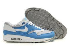 Nike Air Max 1 Zapatos para Hombre Foto Azules/Blancos http://www.esnikerun.com/