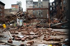 A pile of rubble is all that remains after suspected gas explosion in New York.
