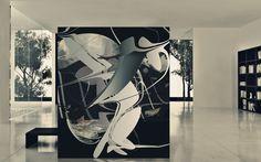 buraco negro pintura digital impressa em lona.