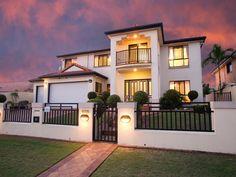 Photo of a wrought iron house exterior from real Australian home - House Facade photo 16845065 Australian Homes, Facade House, Real Estate, Exterior, House Design, Mansions, Facades, House Styles, Wrought Iron