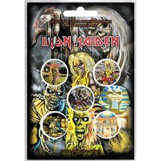 Iron Maiden: Early Albums (set insigne - 5 buc.) Ramones, Albums Iron Maiden, Heavy Metal, Tamara, Button Badge, Metalhead, Pin Badges, Decoration, Beast