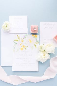 All the florals and all the colors! Loving this spring wedding invitation look.