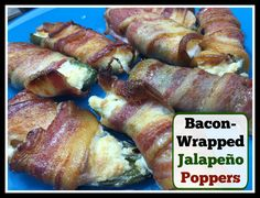 Bacon-Wrapped Jalapeño Poppers Recipe #BigGame #SuperBowl #Recipe # ...