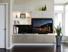 Are you looking for the perfect entertainment center? California Closets custom designs offer cabinetry, shelving, and lighting options that fit your needs.