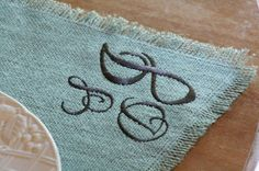 Personalized  Burlap Placemats Set of 4 by Monogramsandmore, $32.00