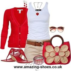 Red, khaki, white: with capris or pants and I could really wear it to work!