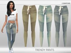 The Sims Resource: Trendy Pants by Puresim • Sims 4 Downloads