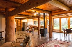 Waldfrieden State im Blockhaus, Wyoming.