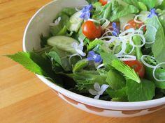 "Hortoilua mökillä – ""Wondering Around"" at the Summer Cottage Herb Salad, Rye, Lettuce, Herbs, Vegetables, Food, Essen, Herb, Vegetable Recipes"