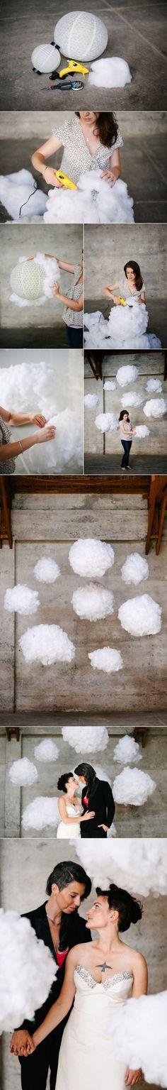 How To: Surreal DIY Cloud Wedding Backdrop