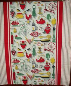 1950/1960 Feed Sack Kitchen Towel
