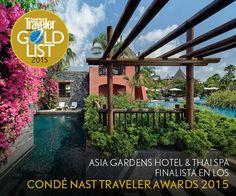 Asia Gardens Hotel & Thai Spa está entre los finalistas de los premios Condé Nast Traveller 2015 dentro de la categoría de MEJOR RESORT EN ESPAÑA
