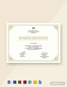 Divorce Forms, Free Divorce, Certificate Of Achievement Template, Certificate Templates, Bill Template, Letterhead, Are You Happy, Social Media, Google Docs