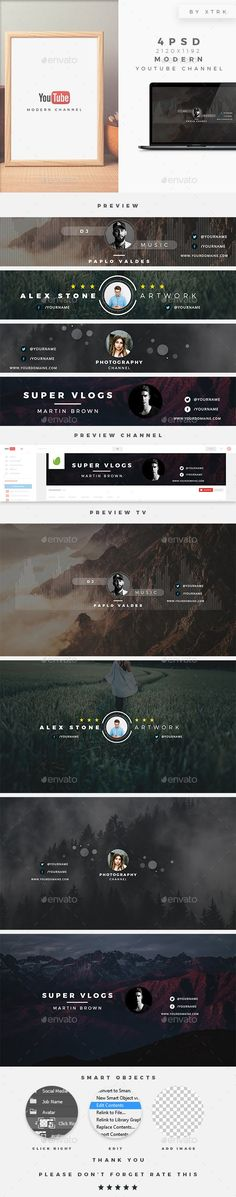Youtube Sensation, Youtube Design, One Page Website, Social Media Buttons, Youtube Channel Art, Advertising And Promotion, Youtube Banners, Banner Template, Cover Template