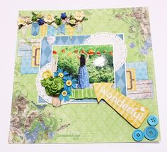 A scrapbook page using Prairie Chic