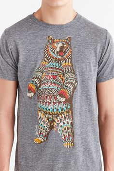 Riot Society Ornate Bear Tee