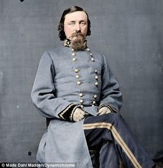 CSA Major General George E. Pickett, famous for the failed Pickett's Charge during the Battle of Gettysburg. American Civil War, American History, Carolina Do Sul, Confederate States Of America, Confederate Leaders, Abraham Lincoln, Civil War Photos, Mississippi, Major General