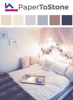 Bedroom color palette - black orange
