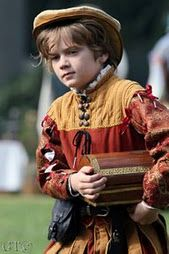Kid Garb! Cute Tudor doublet and flat cap and paned slops