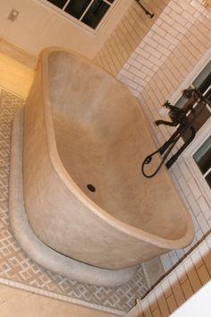 Concrete Bathtub www.jmlifestyles.com