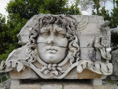 Giant Medusa head from the frieze of the Temple of Apollo at Didyma (Turkey), century AD. Ancient Rome, Ancient Greece, Ancient Art, Ancient History, Roman Sculpture, Lion Sculpture, Rome Art, Medusa Head, History Images