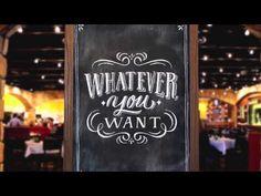 Macaroni Grill Chalkboard Lettering