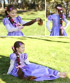 "I gotta find a little girl that would like me to make this for her... I love it!!!!    Halloween Costumes 2013: RAPUNZEL from ""Tangled"""