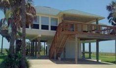 Private Homes Vacation Rental - VRBO 369329 - 2 BR Galveston House in TX, Breezy 'V' Phenomenal Gulf & Bay Views!!!! Watch the Shooting Starsin H.Tub!!