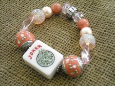 Pink Joker Mahjong Bracelet - Jesse James Beads Jewelry - Mah jong Jewelry